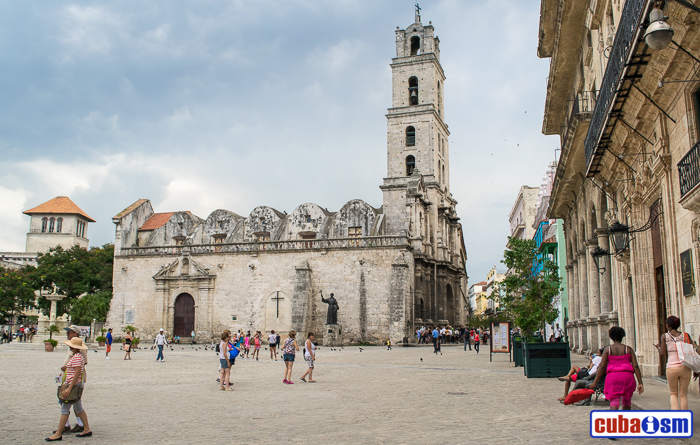 The San Francisco de Asis Square in Old Havana